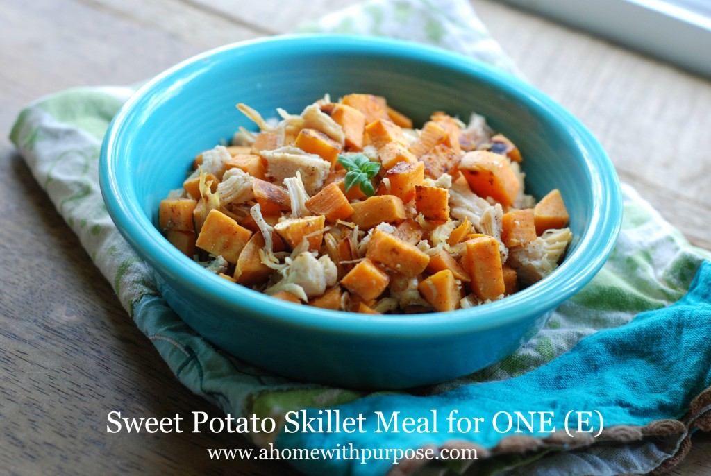 Sweet Potato Skillet - Healthy Dinners for One