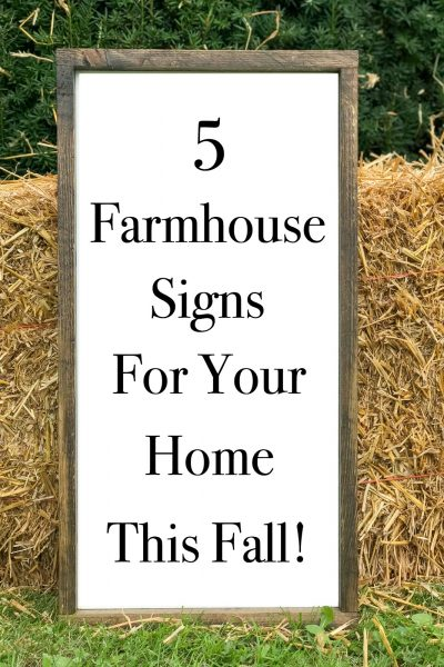 5 Farmhouse Fall Signs that will add sweet reminders to your fall decor.