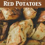Air fryer roasted red potatoes made with parsley.