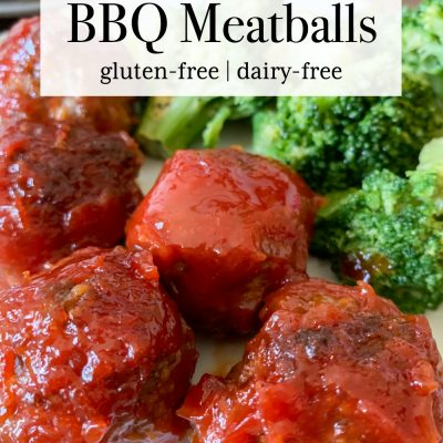Air Fryer BBQ Meatballs (Gluten-Free)