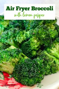Air-fried broccoli with lemon pepper