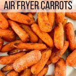Baby carrots fried in the air fryer.