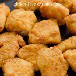 Crispy chicken nuggets fried in an air fryer. (gluten-free)