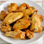 Air fried chicken wings.