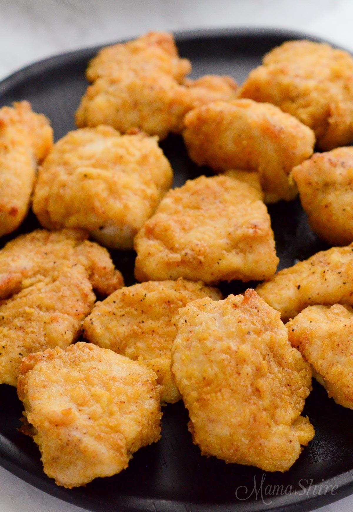 Air fryer chicken nuggets (gluten-free & dairy-free)