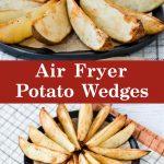 Potato wedges made in an air fryer.