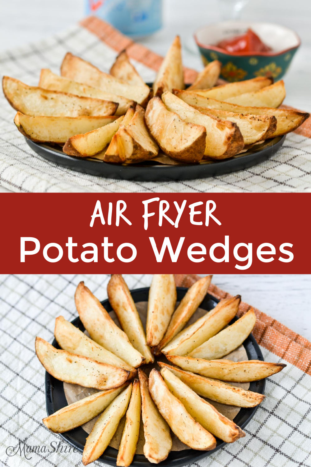 Potatoes made in the air fryer.
