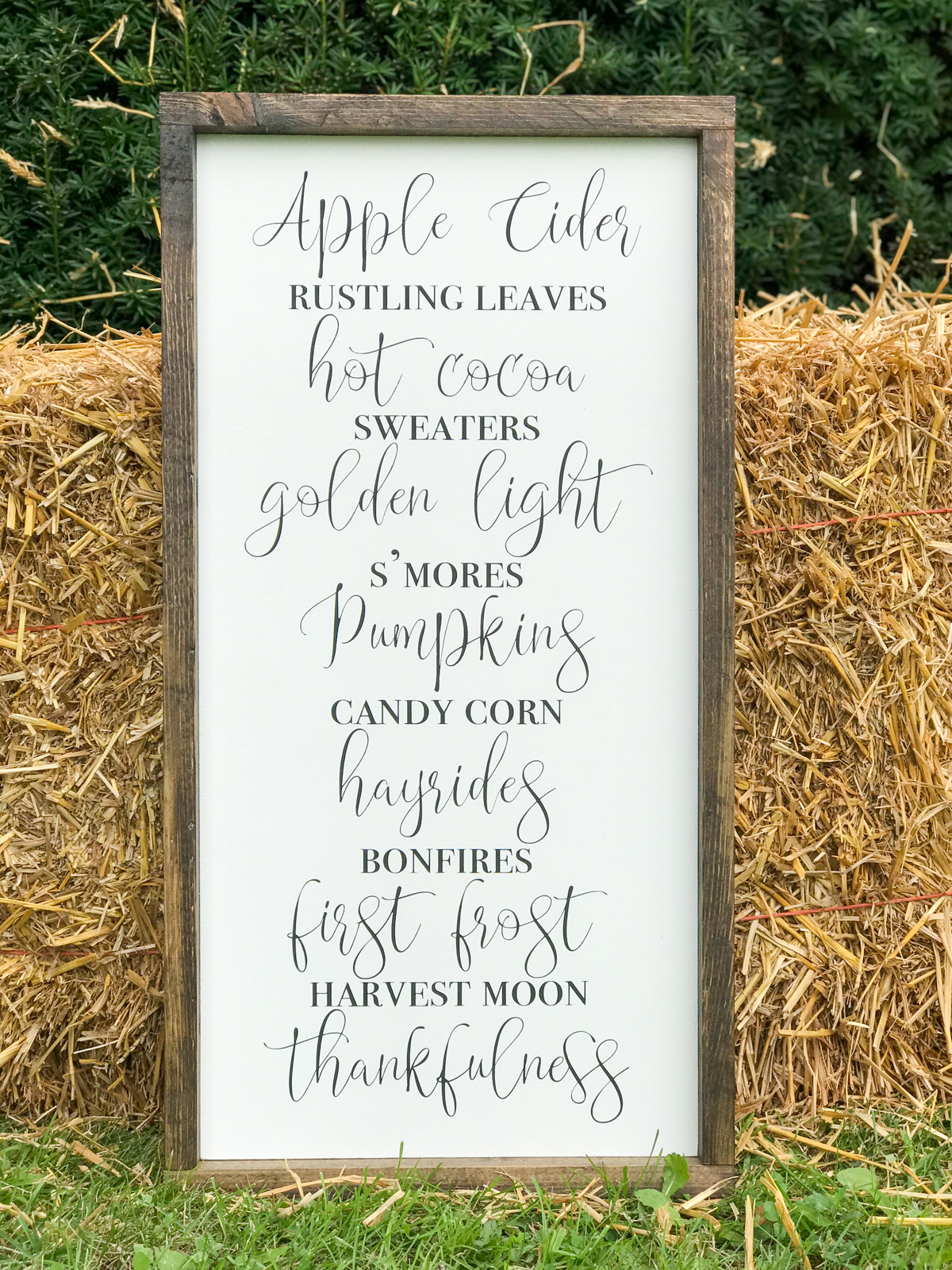 Farmhouse Fall Signs celebrating apple cider and all things fall.