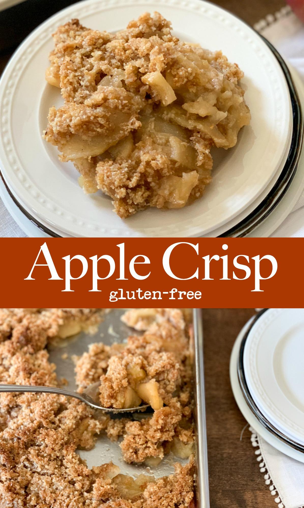 Delicious yummy gluten-free apple crisp.