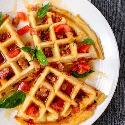 Bacon Tomato Stuffed Waffles (Gluten-Free, Dairy-Free)