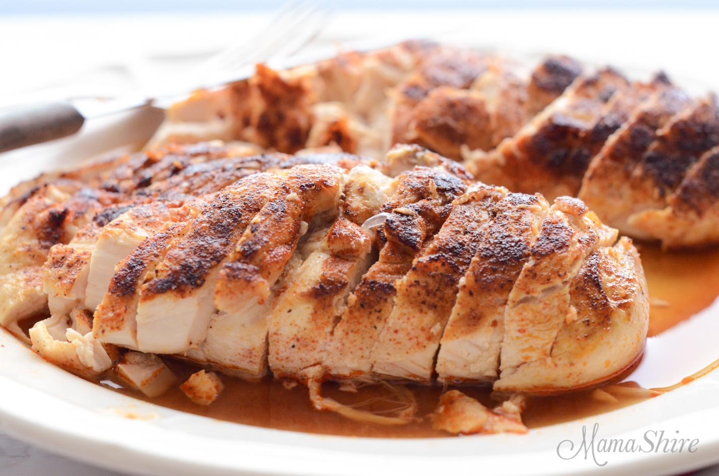 Delicious oven baked chicken breasts that are tender and juicy.