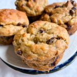 Delicious banana chocolate chip muffins.