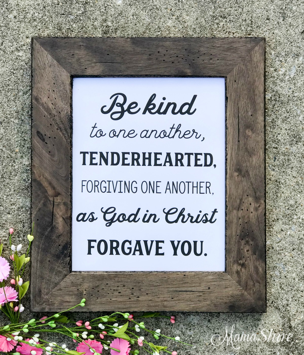 Printable PDF of Be Kind to One Another.