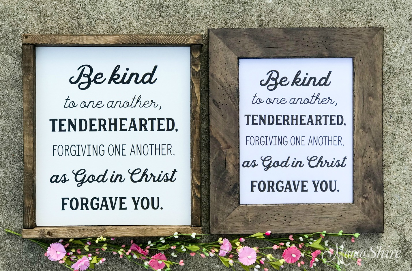 Be Kind to One Another Wood Sign and Printable PDF