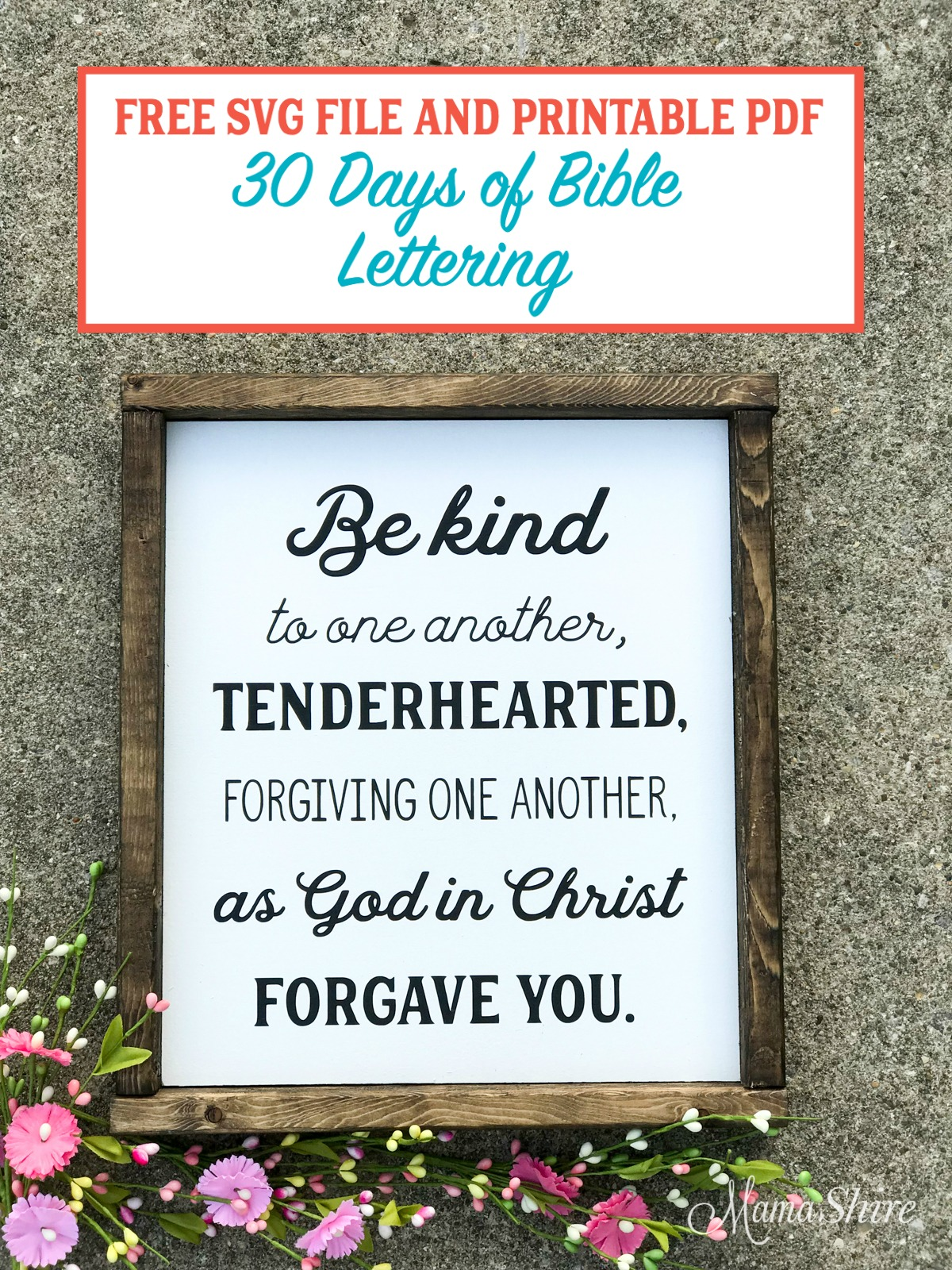 Be kind of to one another wood sign.
