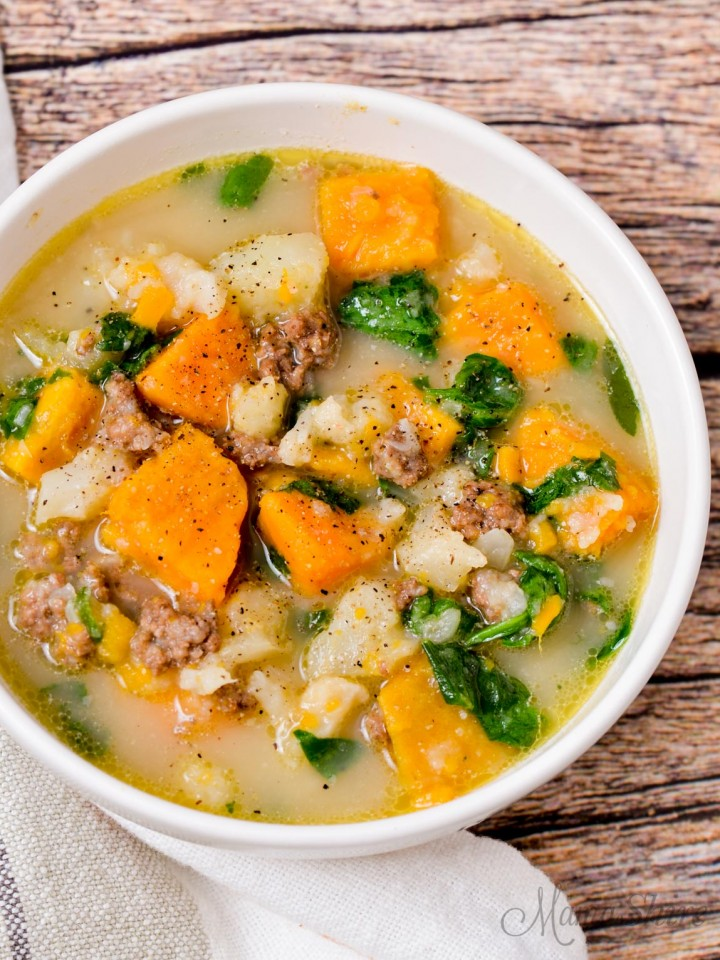 A delicious bowl of gluten-free soup.