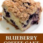 Gluten-free coffee cake with blueberries