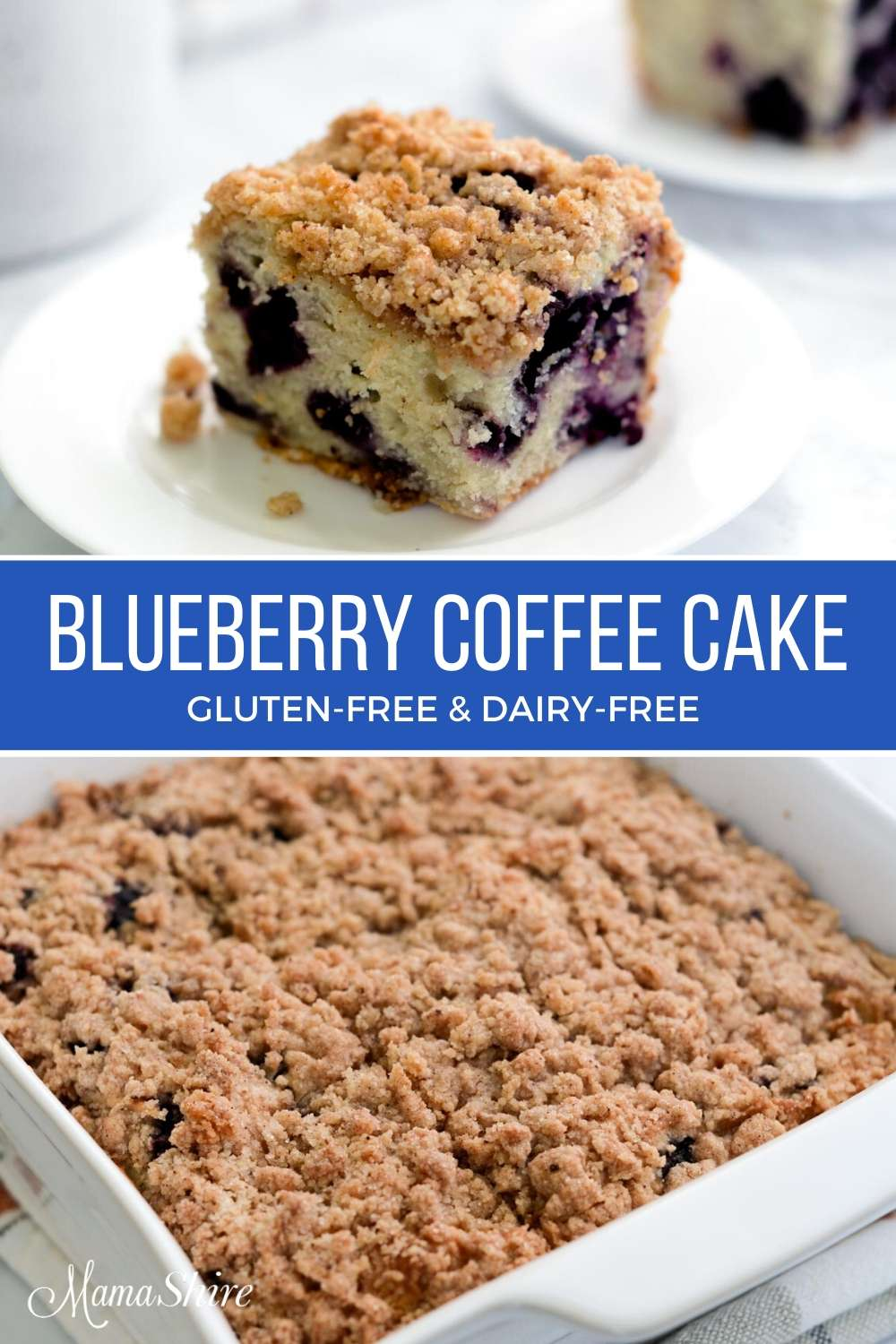 Gluten-free blueberry coffee cake.