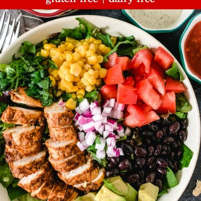 Healthy Taco Salad Recipe With Chicken (Gluten-Free)