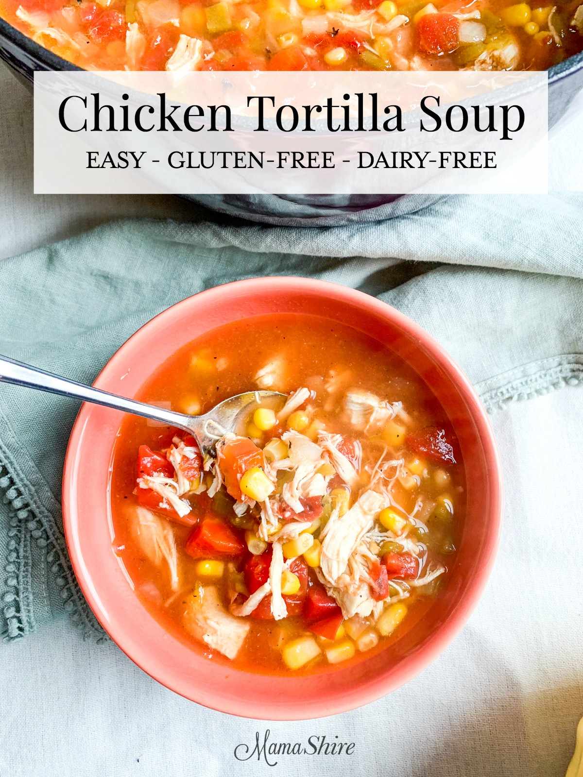 30 minutes or less and easy to make Chicken Tortilla Soup