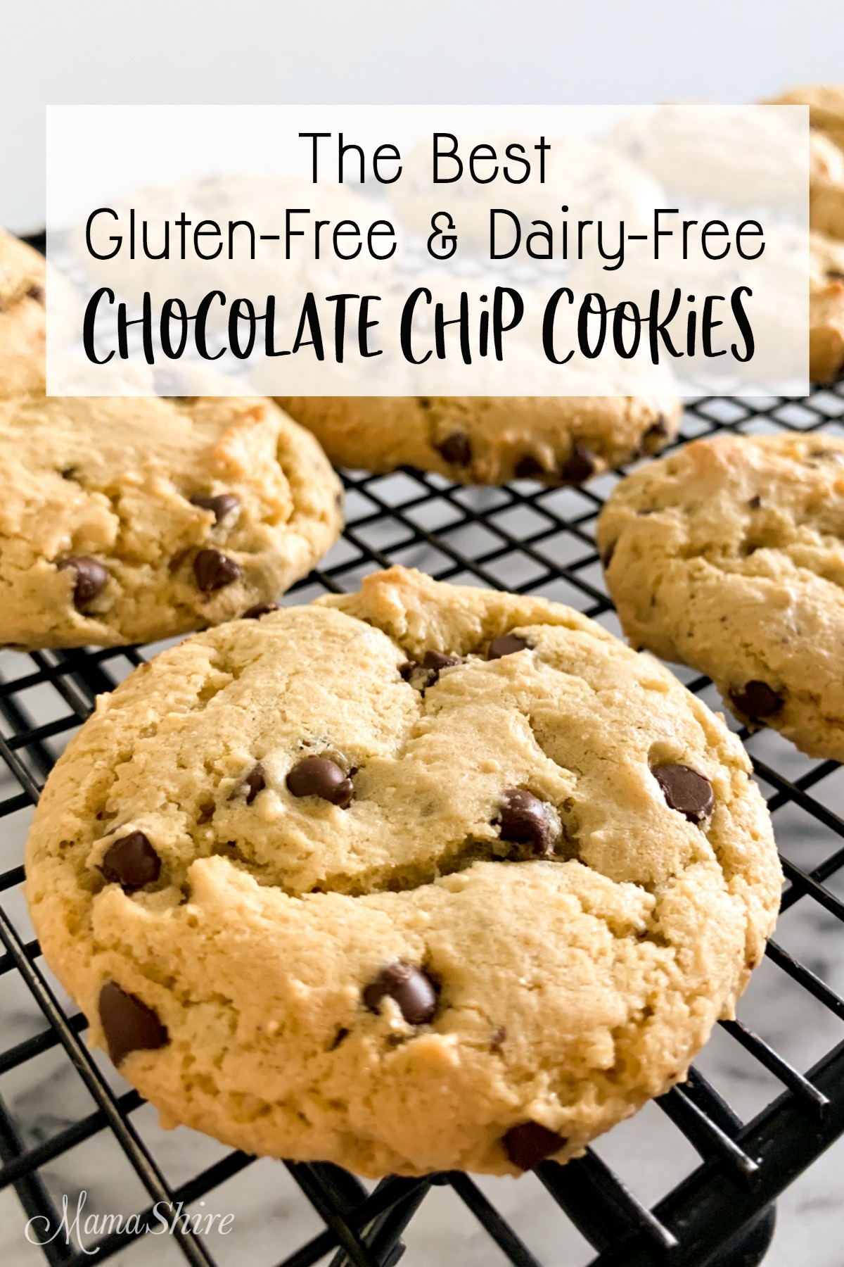 The best gluten-free and dairy-free chocolate chip cookies.