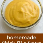 A bowl of homemade Chick-Fil-A sauce.