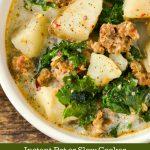Dairy-free and gluten-free Olive Garden Copycat Zuppa Toscana