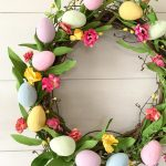Easter Egg Wreath with spring colors.