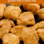 Crispy gluten-free chicken nuggets made in an air fryer.