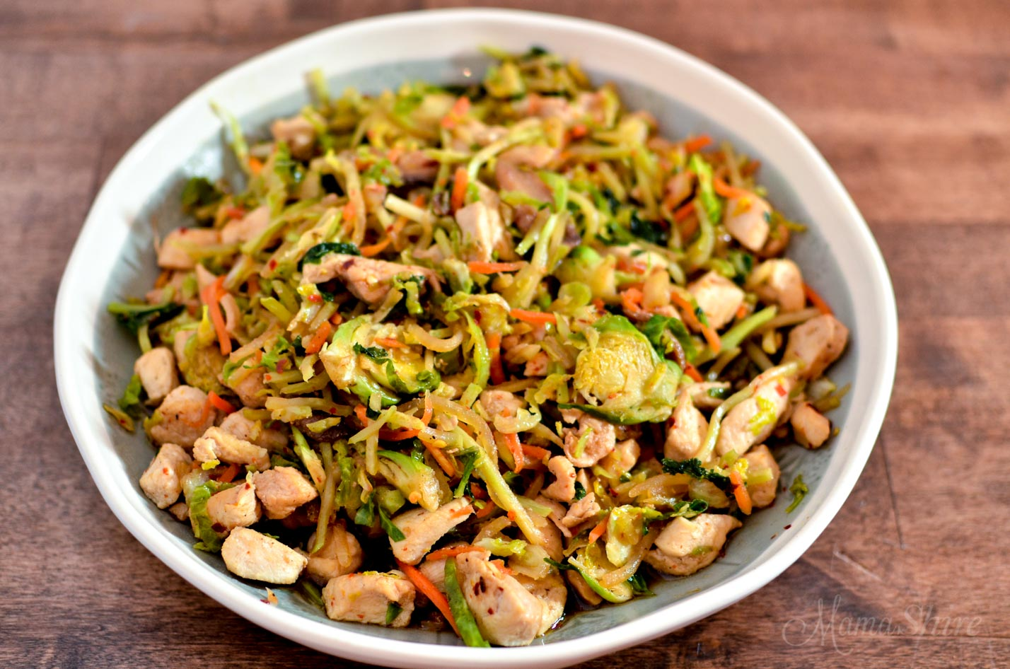 Easy Chicken Stir Fry with Brussels Sprouts