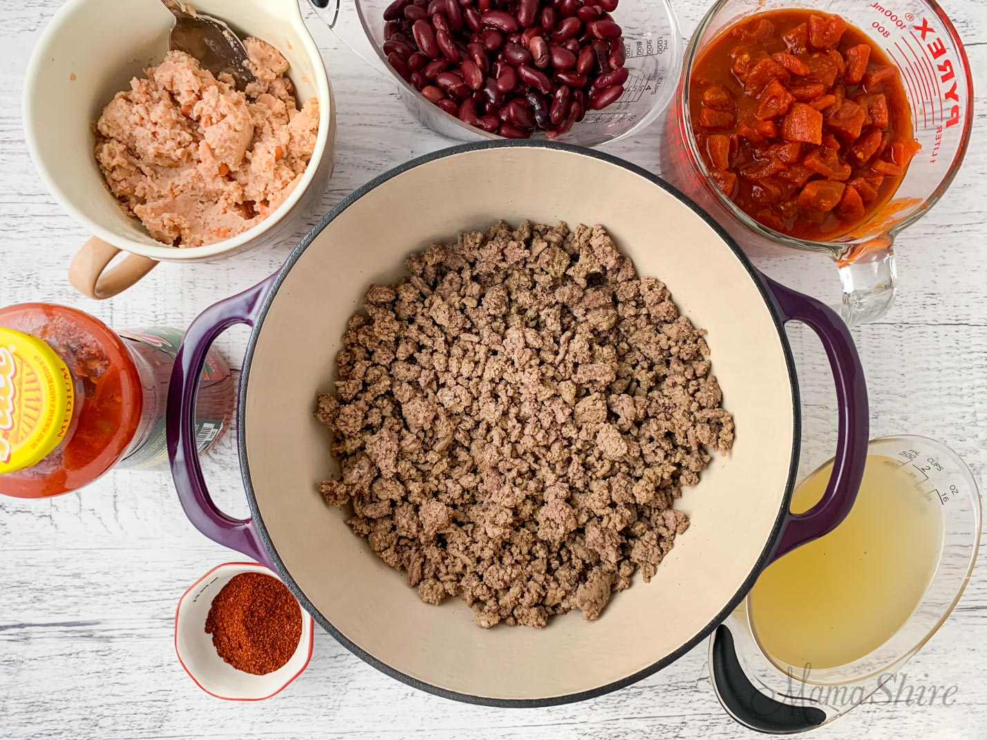 Ingredients for gluten-free chili