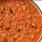Easy chili made in the slow-cooker.