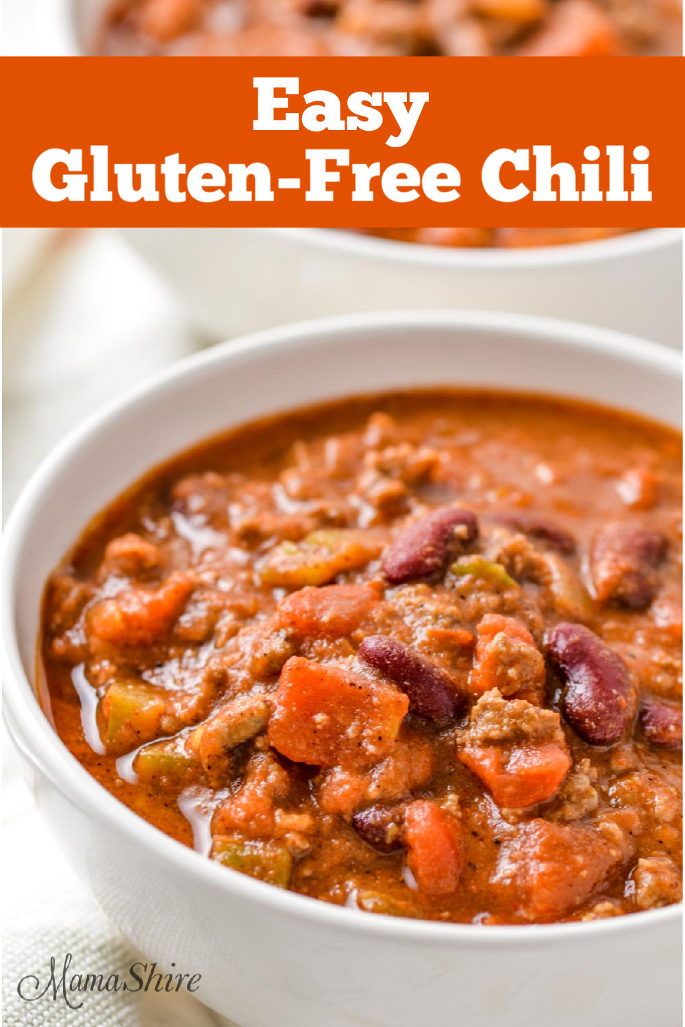 A bowl of gluten-free chili.