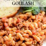 Easy recipe for gluten-free goulash.