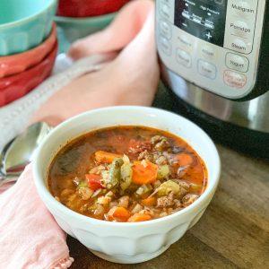 Easy Instant Pot Vegetable Soup (Gluten-Free)