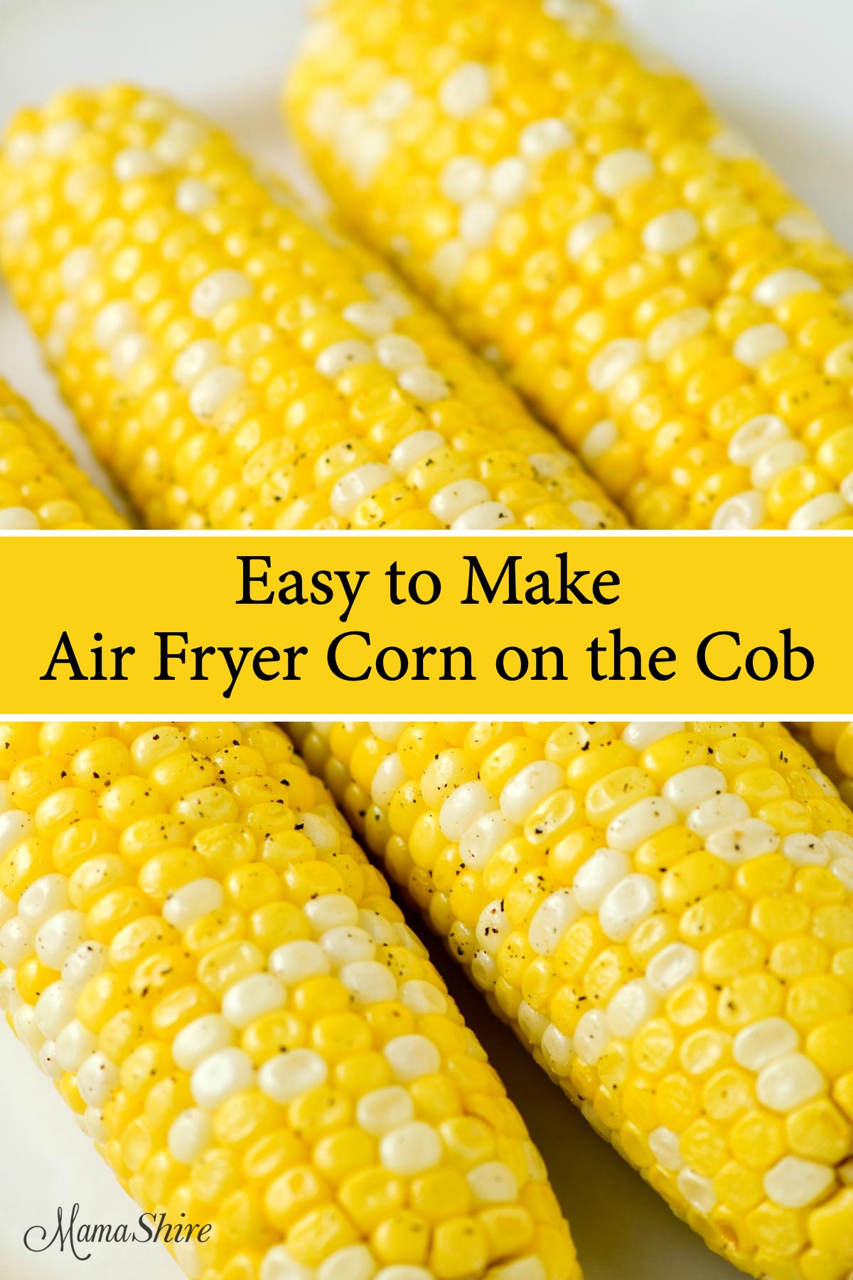 Corn on the cob made in an air fryer.