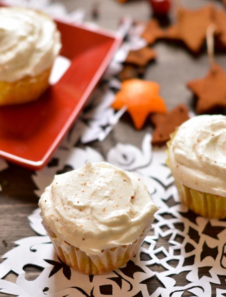 Gluten-free Eggnog Cupcakes