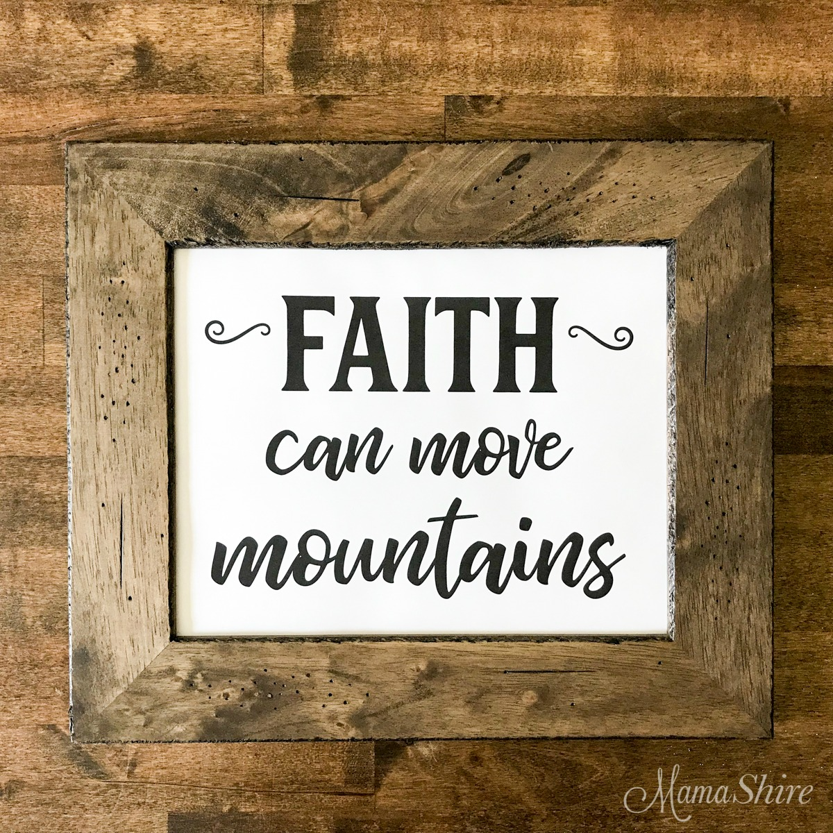Faith Can Move Mountains Printable PDF