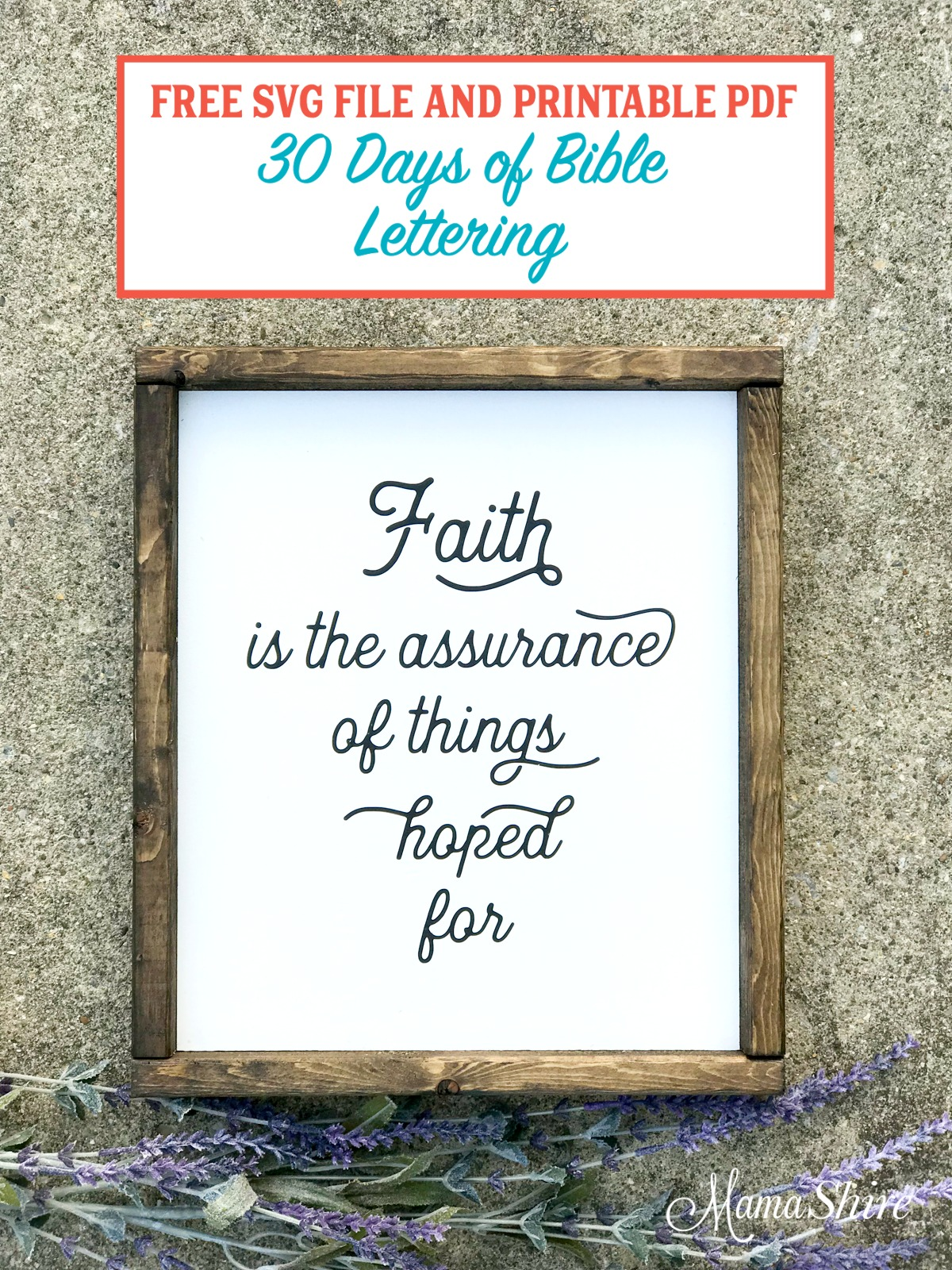 Free SVG & Printable PDF of Faith is the assurance.