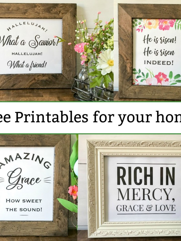 Free printables for your home, with 4 inspirational designs!