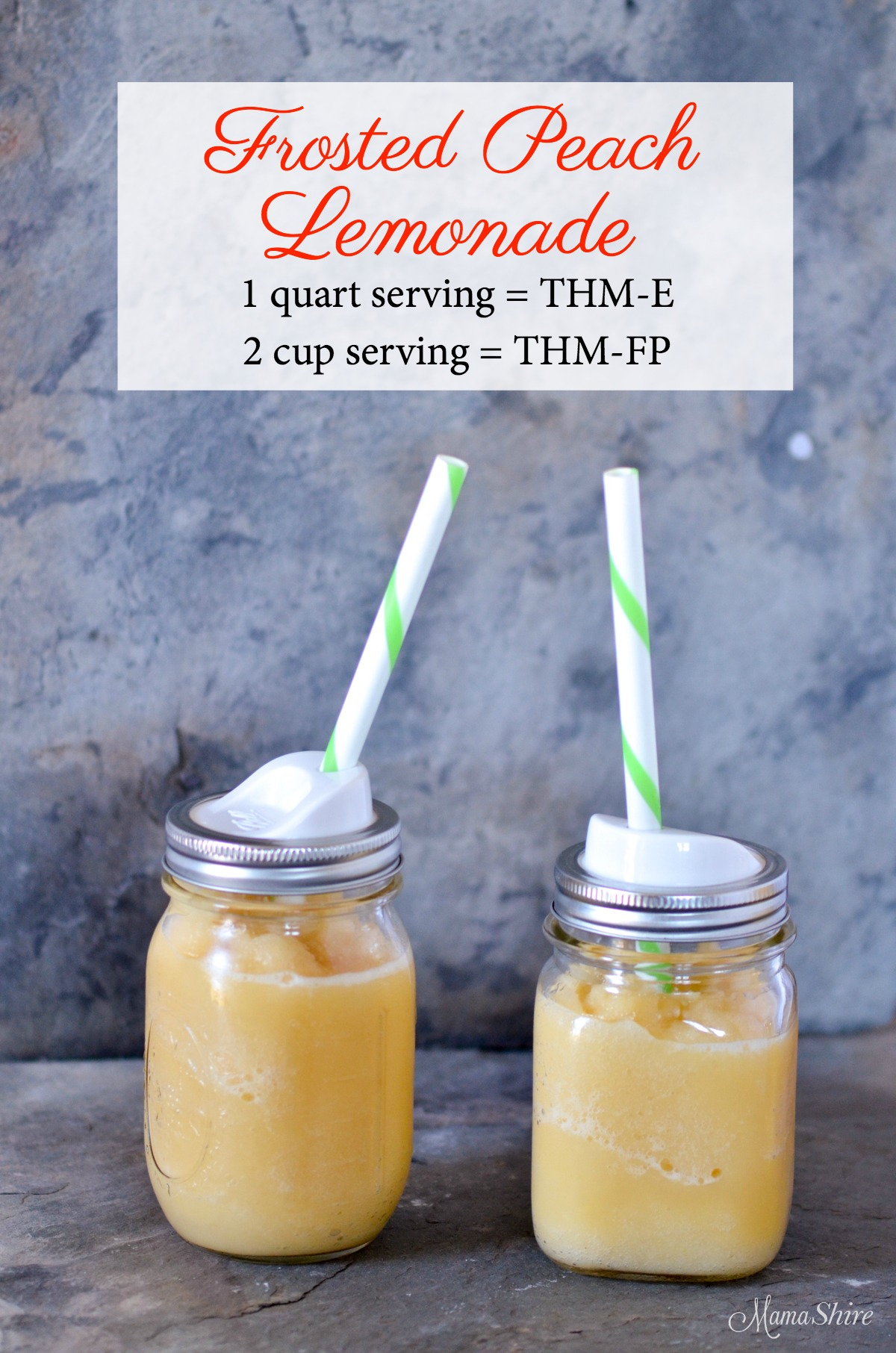 Frosted Peach Lemonade 2 cup servings- THM-FP