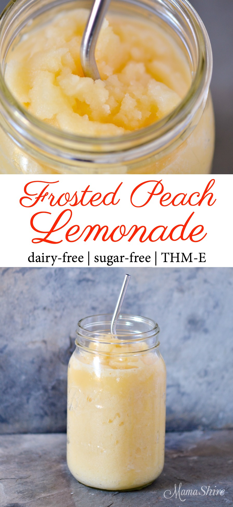 Frosted Peach Lemonade