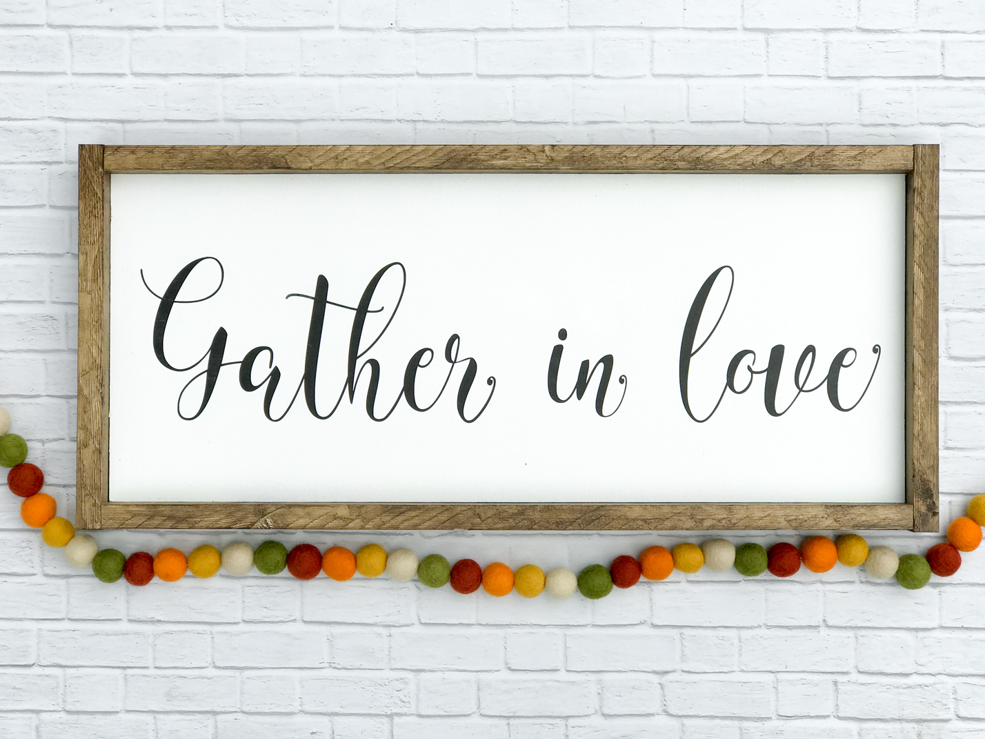 Gather in Love Farmhouse Fall Signs for your fall home decor.