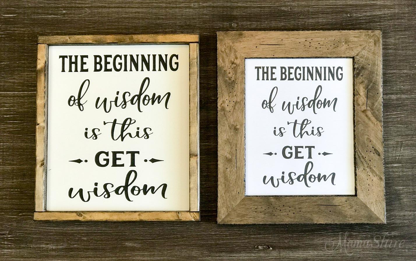 Get Wisdom Bible Verse SVG & Printable PDF