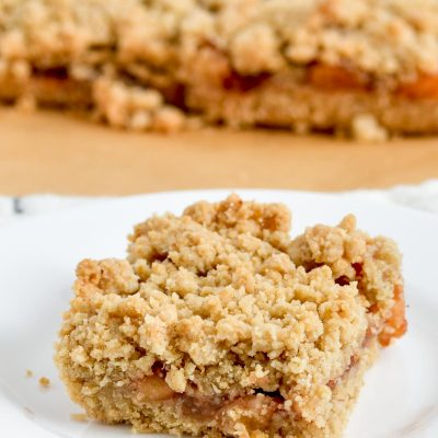 Gluten-Free Apple Oatmeal Bars (Dairy-Free)