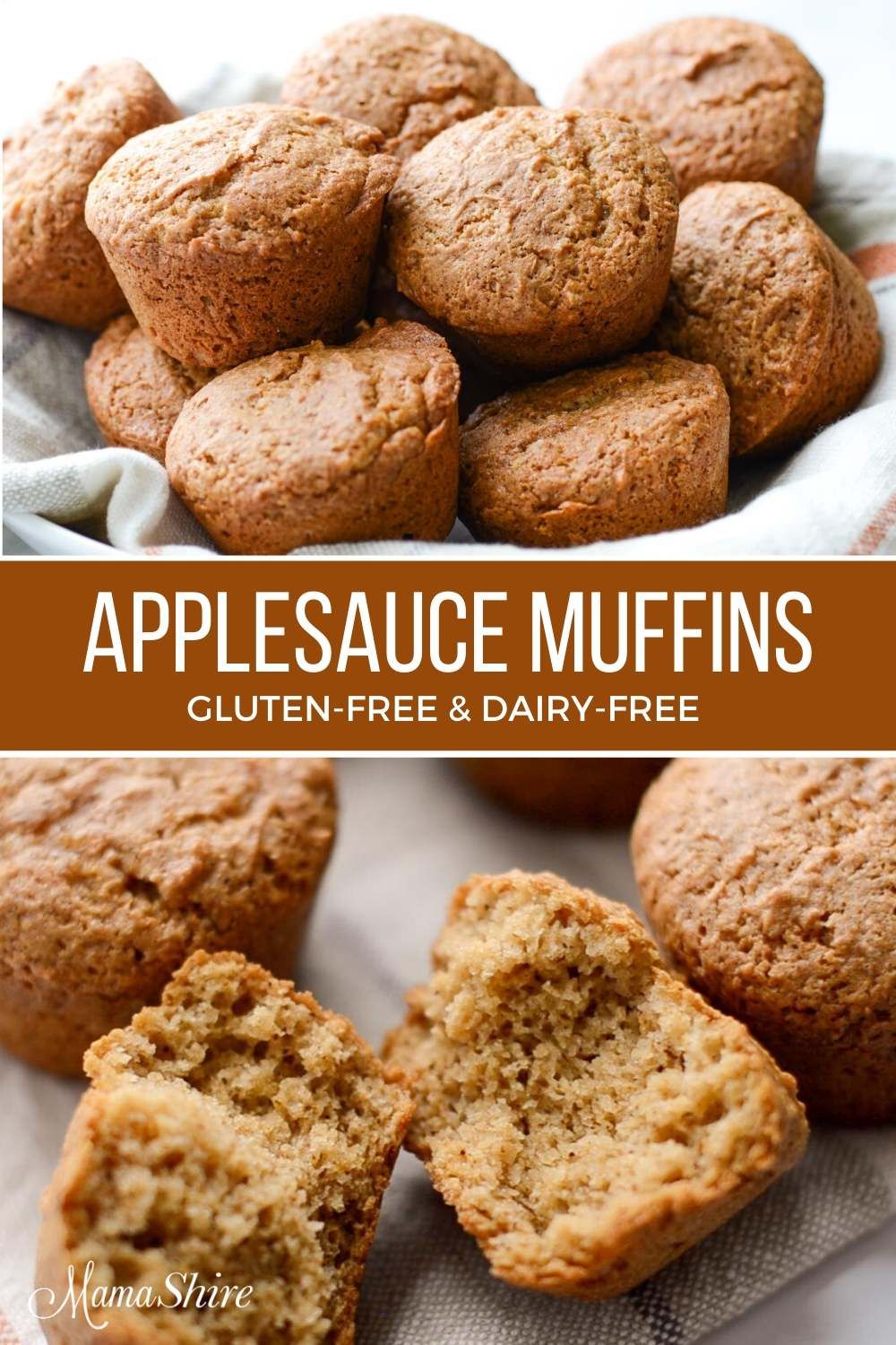 Gluten-Free Muffins with applesauce and cinnamon.