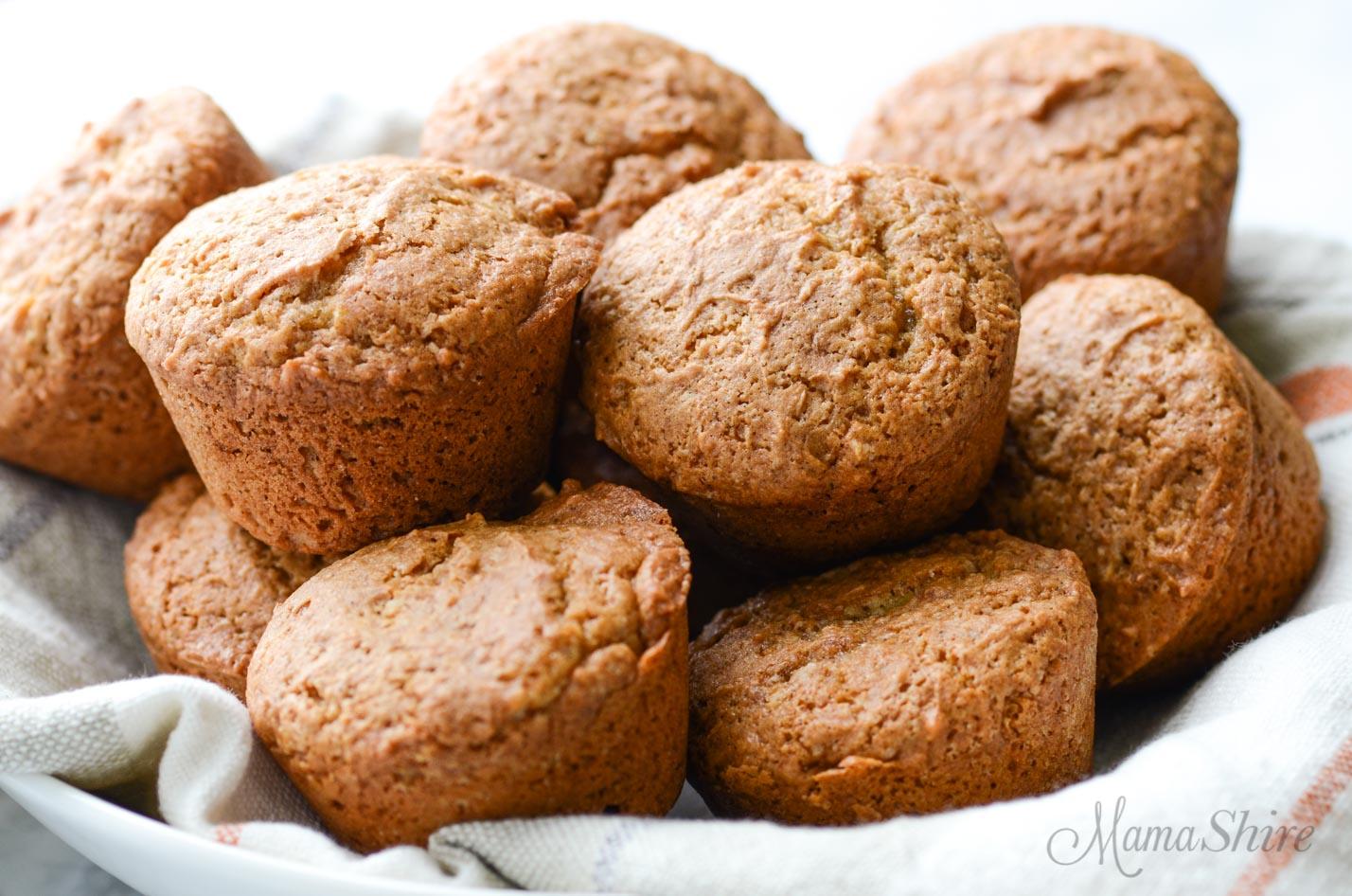 A basket of gluten-free muffins