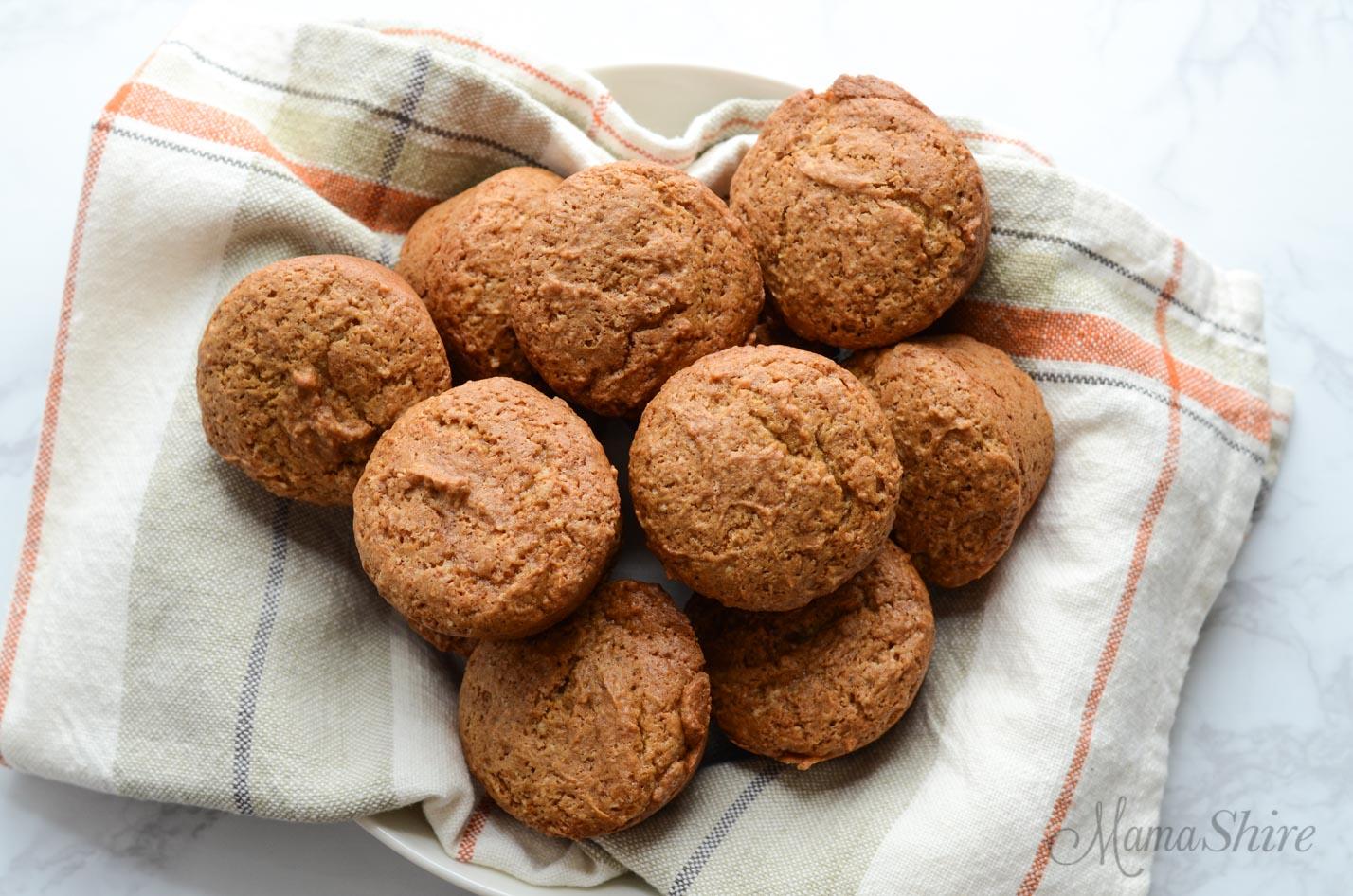 A basket of gluten-free muffins.