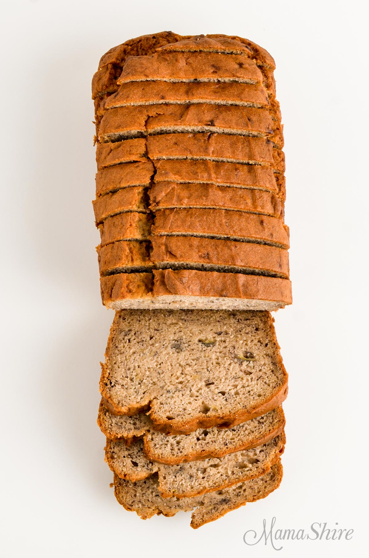 A loaf of gluten-free banana bread.
