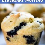 A closeup of the blueberry muffins